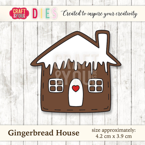 CW025 Die Gingerbread House
