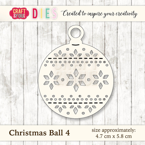 CW027 Die Christmas Ball 4