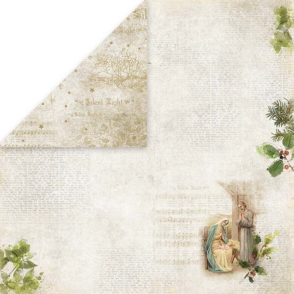 CP-SN01 Silent Night Scrapbooking single paper 12x12