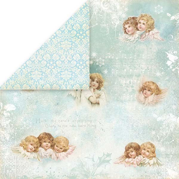 CP-SN04 Silent Night Scrapbooking single paper 12x12