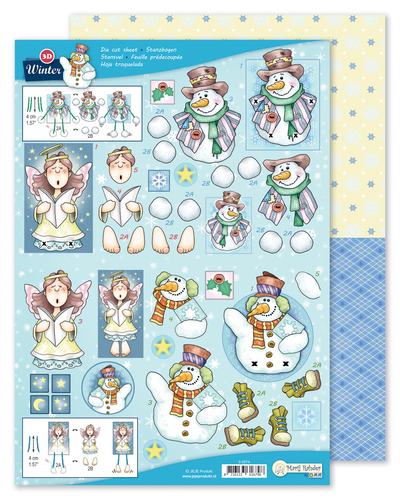 9.0074 MRJ 3D Die cut sheet Winter + 1 potpourri sheet