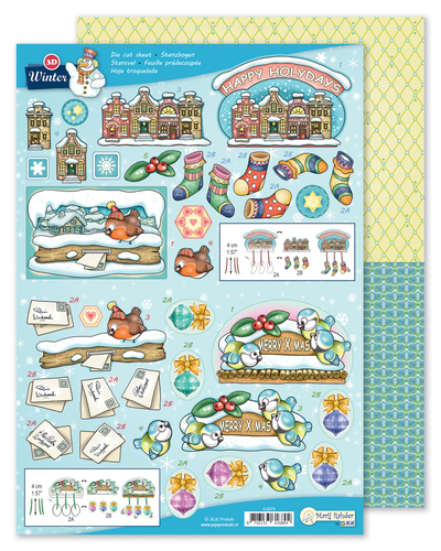9.0075 MRJ 3D Die cut sheet Winter + 1 potpourri sheet