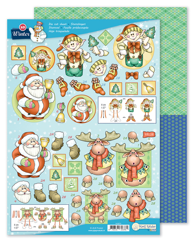 9.0073 MRJ 3D Die cut sheet Winter + 1 potpourri sheet