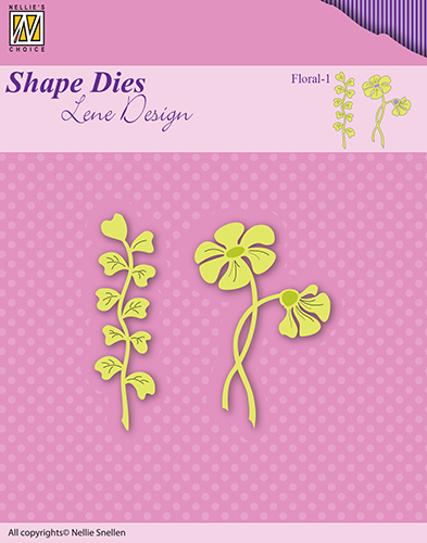 SDL049 Lene Dies flowers & leaves floral-1