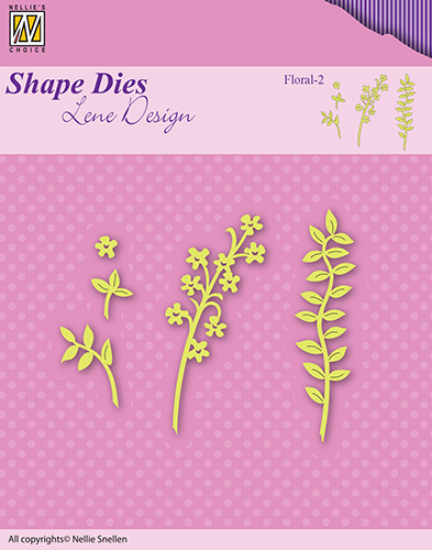 SDL050 Lene Dies flowers & leaves floral-2