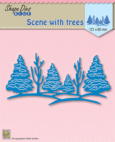 "SDB003 Shape Die Blue ""scene with trees"""