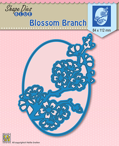 SDB007 Shape Die Blue Blossom branch