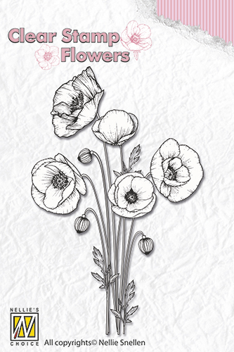 FLO014 Clear stamps flowers poppies