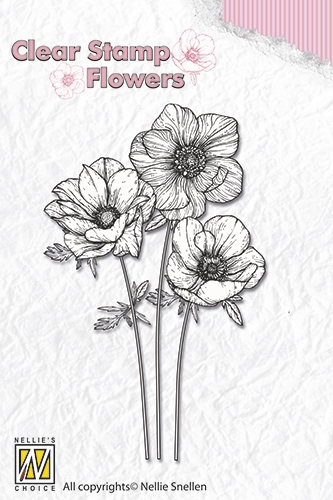 FLO015 Clear stamps flowers anemones