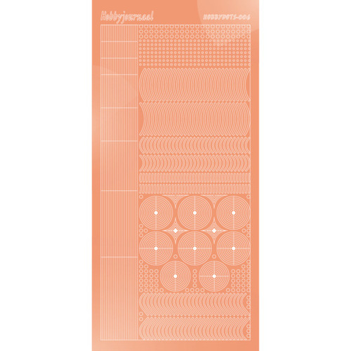 STDM06K Hobbydots sticker - Mirror - Salmon