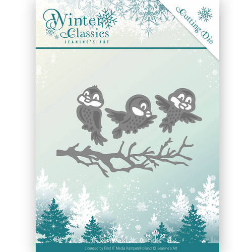 JAD10027 Die - Jeanine's Art - Christmas Classics - Winter birds