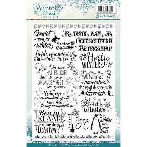 JACS10006 Clearstamp - Jeaninnes Art - Winter Classics
