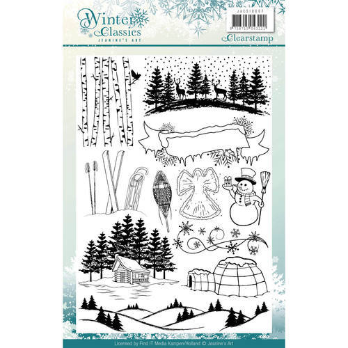 JACS10007 Clearstamp - Jeaninnes Art - Winter Classics