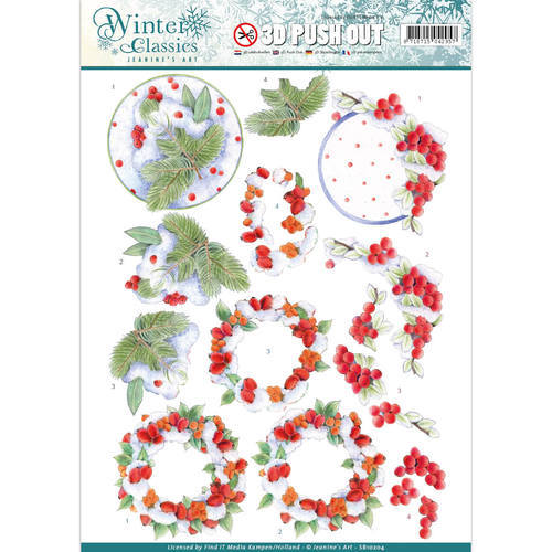 SB10204 Jeanine's Art - Winter Classics - Winterberries - 3D Push Out