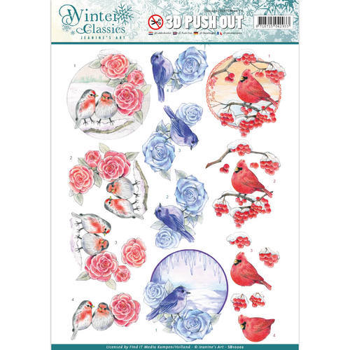 SB10202 Jeanine's Art - Winter Classics - Christmas Birds - 3D Push Out