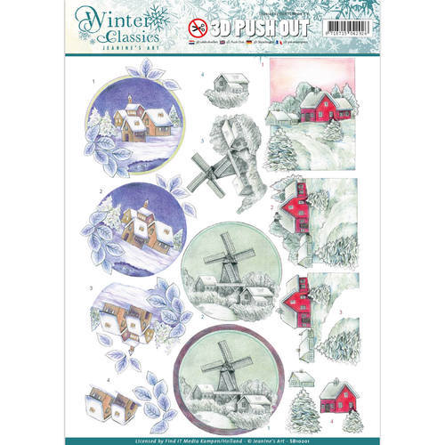 SB10201 Jeanine's Art - Winter Classics - Christmas landscapes - 3D Push Out