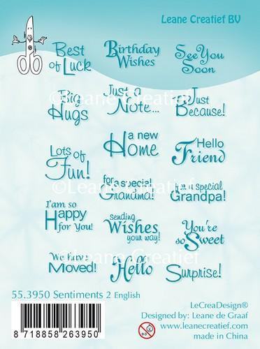 55.3950 Clear stamp Sentiments 2 English