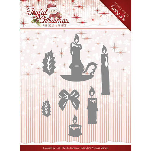 PM10105 Die-Precious Marieke - Joyful Christmas - Christmas Candles