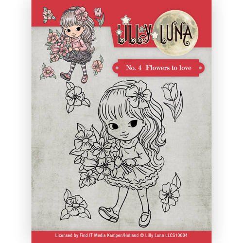 LLCS10004 Clearstamp -Lilly Luna - 4 Flowers to Love