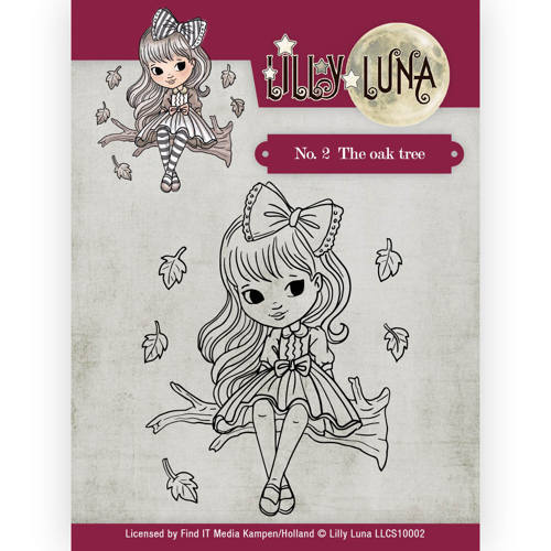 LLCS10002 Clearstamp -Lilly Luna - 2 The Oak Tree