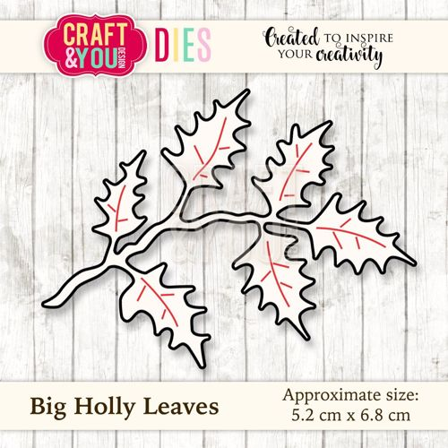CW030 metal cutting die Big Holly Leaves - 5,2x6,8cm