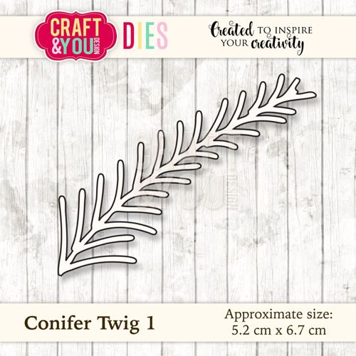 CW031 metal cutting die Conifer Twig 1 - 5,2x6,7cm