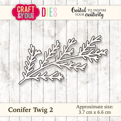 CW032 metal cutting die Conifer Twig 2 - 3,7x6,6cm