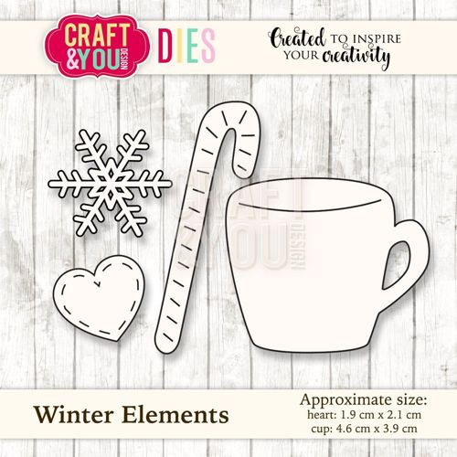 CW034 metal cutting die Winter Elements - 4,6x3,9cm/1,9x2,1cm