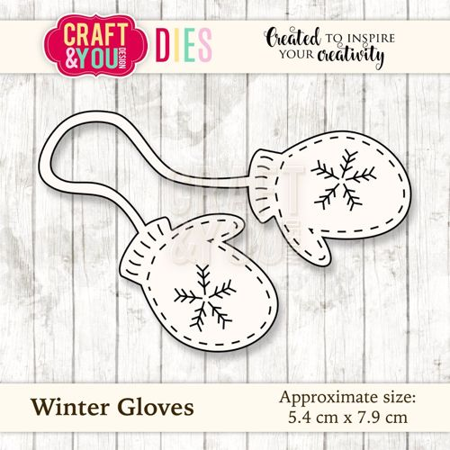 CW035 metal cutting die Winter Gloves 5,4x7,9cm