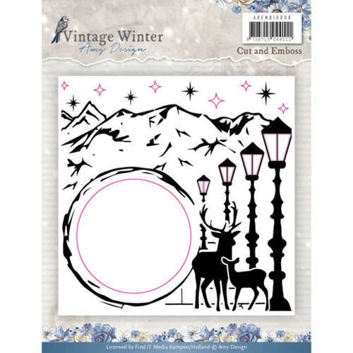 ADEMB10008 Embossingfolder - Amy Design - Vintage Winter