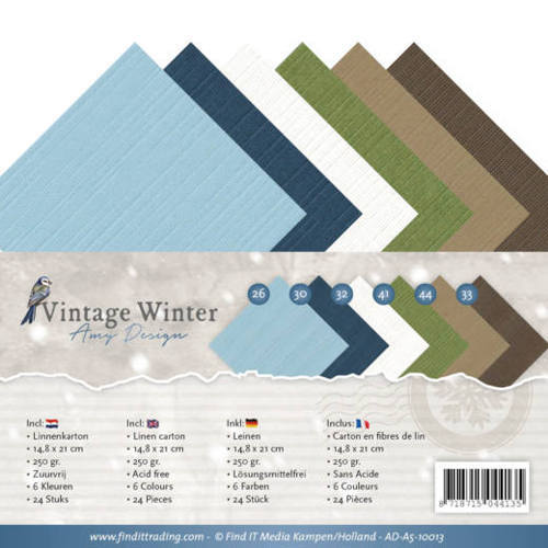AD-A5-10013 Linnenpakket - A5 - Amy Design - Vintage Winter