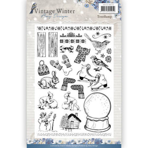 ADCS10021 Clear Stamp - Amy Design - Vintage Winter