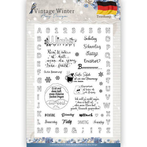 ADCS10024 Clear Stamp - Amy Design - Vintage Winter - Deutsch