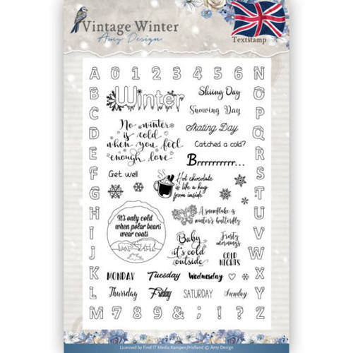 ADCS10023 Clear Stamp - Amy Design - Vintage Winter - English