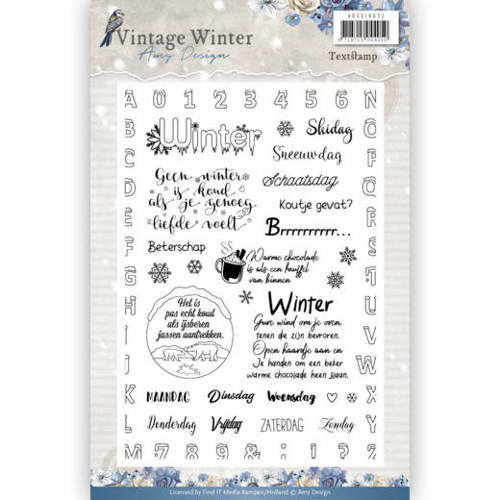 ADCS10022 Clear Stamp - Amy Design - Vintage Winter NL