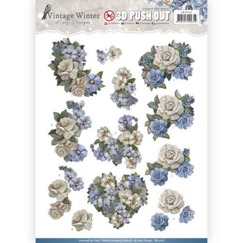 SB10216 Pushout- Amy Design - Vintage Winter - Winter Flowers