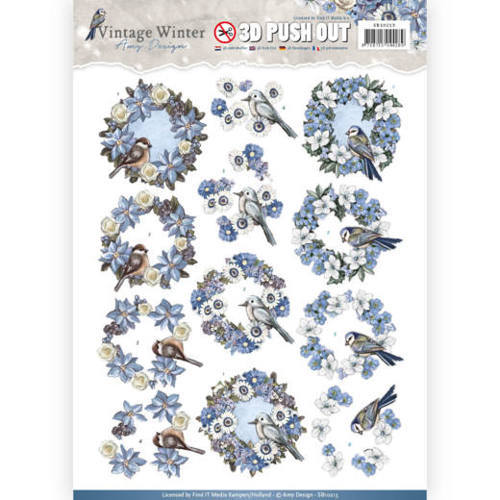 SB10213 Pushout- Amy Design - Vintage Winter - Wreaths