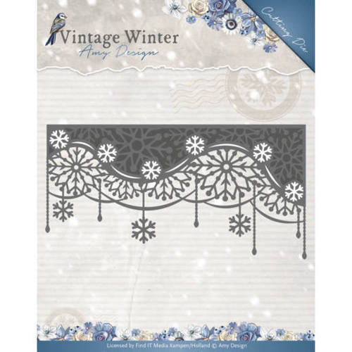 ADD10125 Die - Amy Design - Vintage Winter - Snowflake Swirl Edge