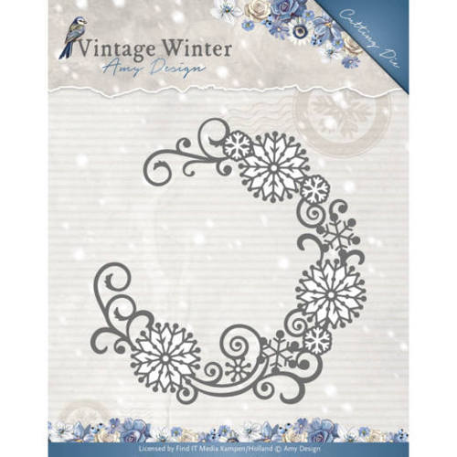 ADD10122 Die - Amy Design - Vintage Winter - Snowflake Swirl Round