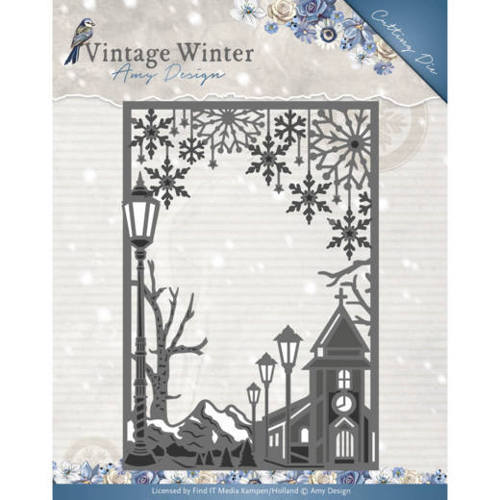 ADD10121 Die - Amy Design - Vintage Winter - Village Frame Straight