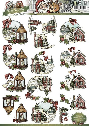 CD10402 3D Knipvel - Yvonne Creations - Magnificent Christmas - Christmas in the country