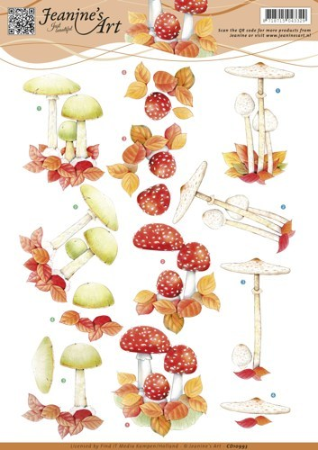 CD10993 3D knipvel - Jeanine's Art - Autumn mushrooms