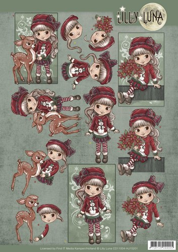 CD11004-HJ15201 3D knipvel Lilly Luna - Christmas Wishes