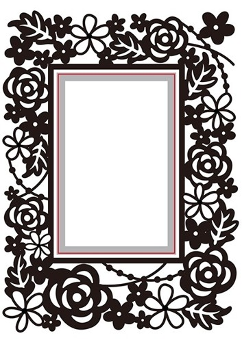 HSEFD004 Hobby Solution Emb.& Die Cut rectangle-floral