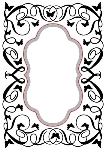 HSEFD006 Hobby Solution Emb.& Die Cut oval-butterfly-swirls