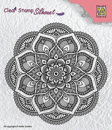 SIL025 Clear stamps Silhouette Mandala