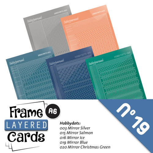LCST019 Frame Layered Cards 19 A6 Stickerset