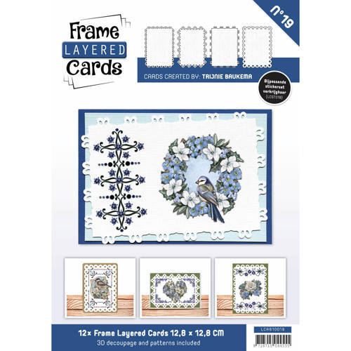 LCA610019 Frame Layered Cards 19 - A6