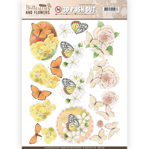 SB10218 3D Push Out - Jeanine's Art - Classic Butterflies and Flowers - Lovely Butterflies