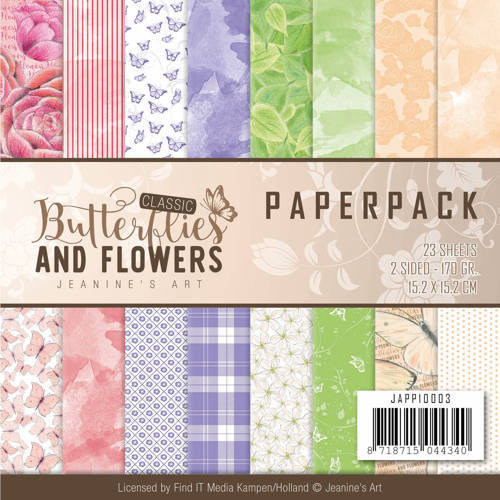 JAPP10003 Paperpack - Jeanine's Art Classic Butterflies and Flowers